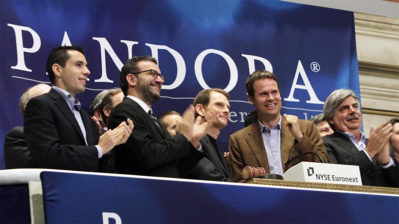 Pandora Makes an IPO Fortune