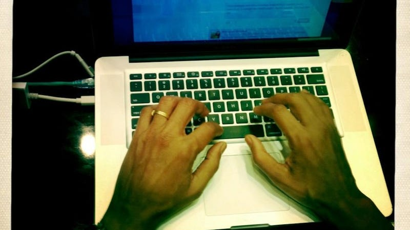 Here Are Barack Obama's Hands Typing on a Laptop Right Now