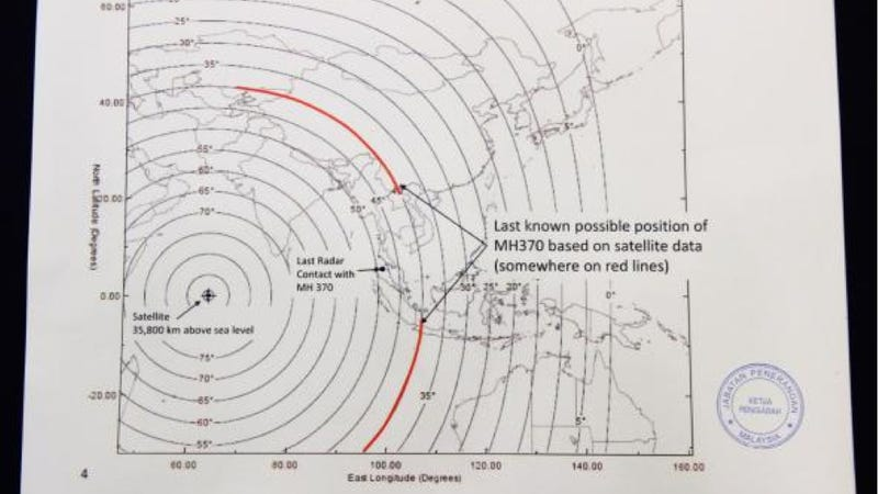 The Missing Malaysian Plane Might Be On Land Somewhere In Asia