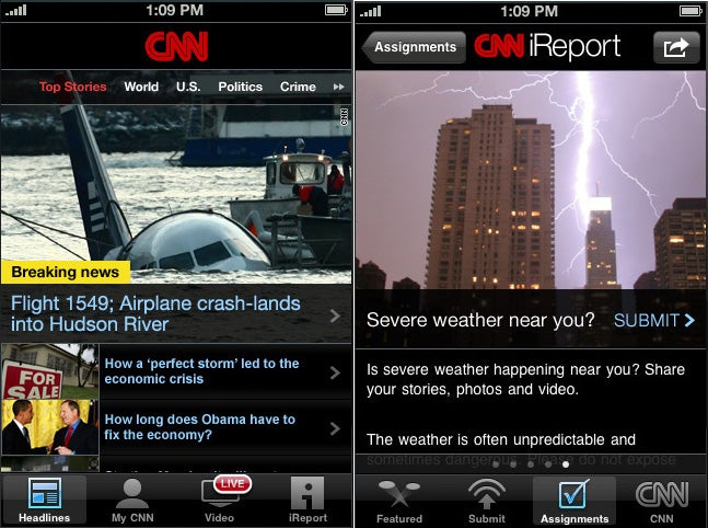 CNN's iPhone App Makes Other News Apps Look Lazy