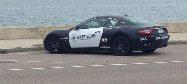 'Decepticons Punish & Enslave' Maserati Driver Impersonated A Cop