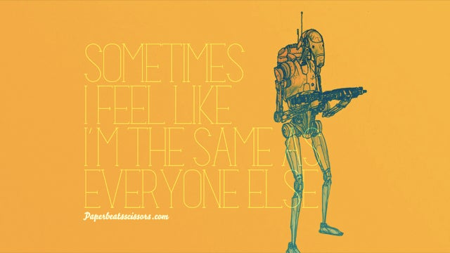 When Star Wars droids suffer from low self-esteem