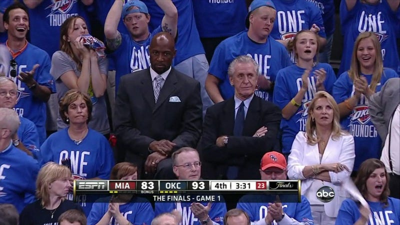 Thunder Take Game 1, Send Pat Riley Into His Own Personal Hell