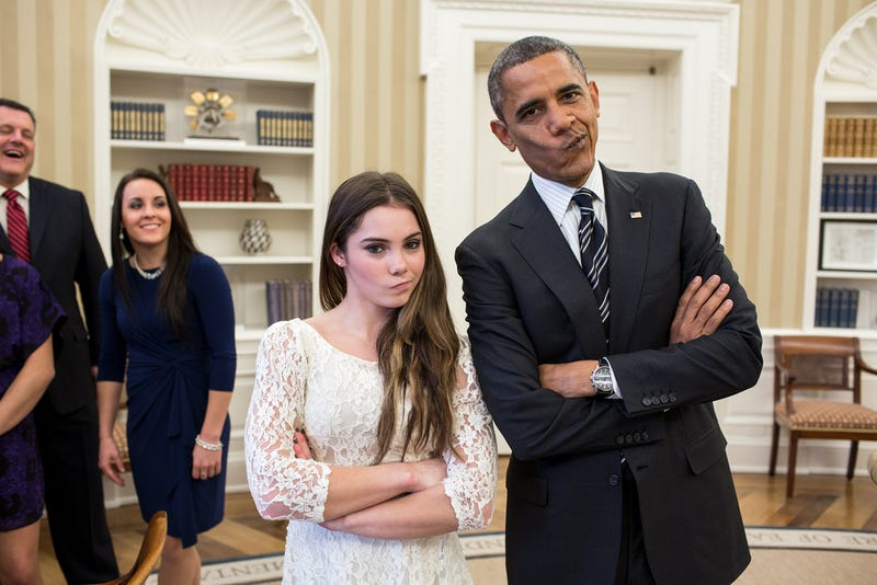 Barack Obama, McKayla Maroney Meme the Oval Office