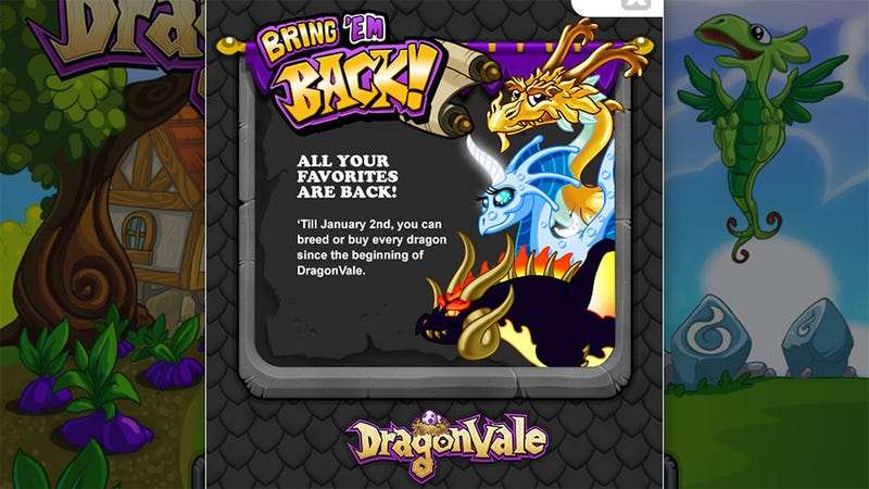 Now's Your Chance to Get Every Dragonvale Dragon You've Missed