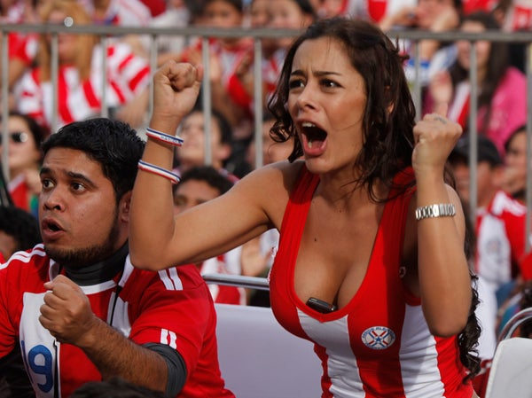 Cell Phone-Bosomed Paraguay Girl Is The Star Of The World Cup So Far