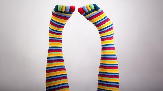 Catholic School Students Wear Rainbow Socks at Graduation