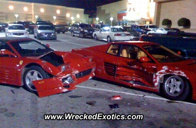 Two Loaned Ferraris Wrecked By High School Baseball Players