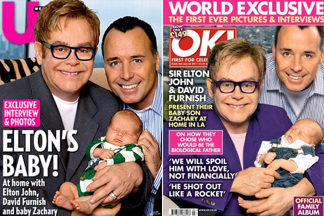 Elton John's Immaculately Conceived Baby Was Born on Christmas Day