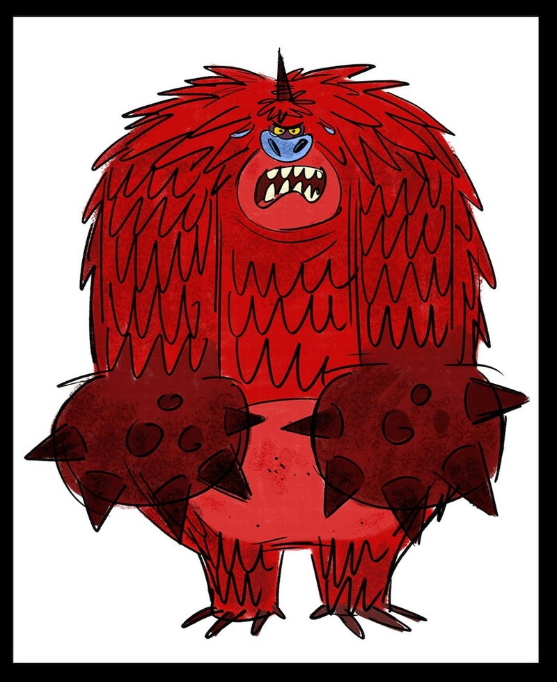 Concept Art of the Original Monster Versions of Wreck-It Ralph