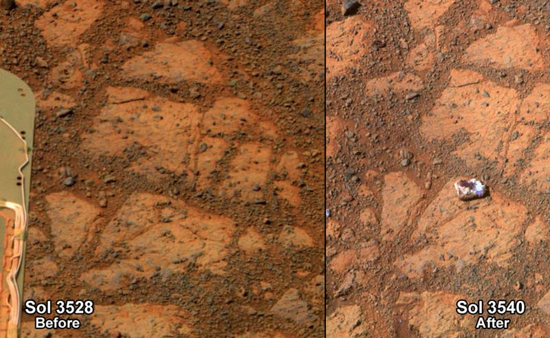 Scientists now know why this mysterious rock suddenly appeared on Mars