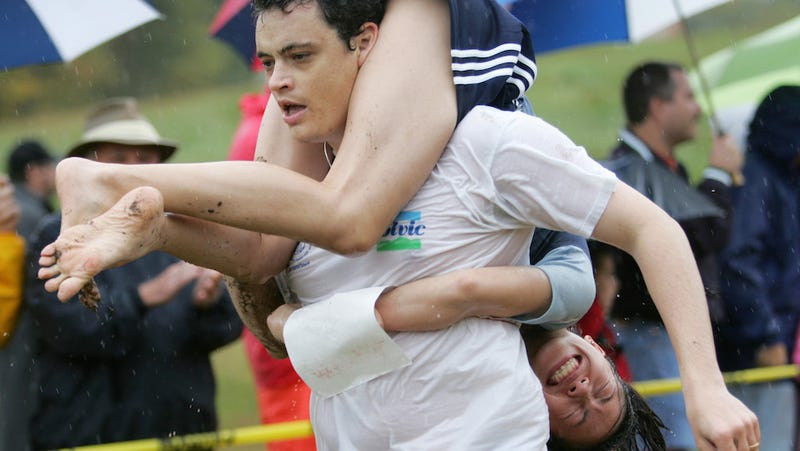 Finnish Couple Wins 19th World Wife Carrying Championships