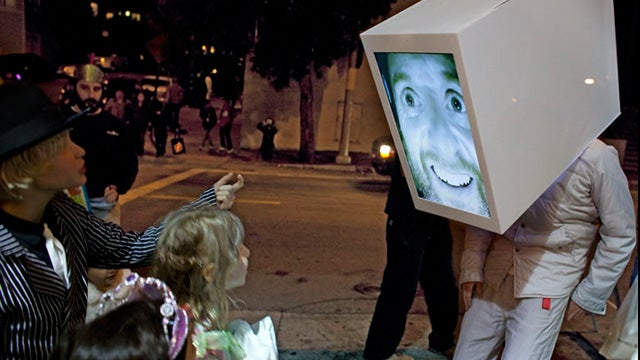 Giant Head Costume Is Apple's 1984 Commercial Come to Life