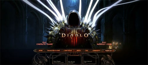 Diablo III Webpage Filled With Trailers, Screens, Evil