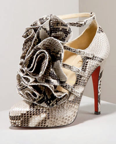 Christian Louboutin Creates Sky High, Obscene, Snake Stilettos