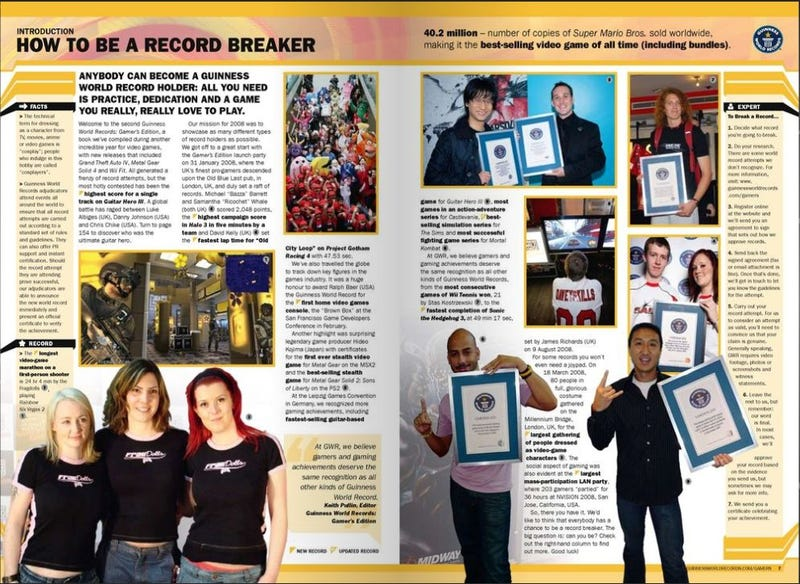 Glimpse at Guinness Book of World Records Gamer's Edition 2009