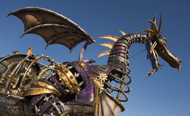 New Disney Parade to feature badass steam punk dragon.