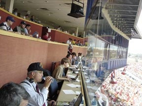 So A Blogger And A Pig Walk Into A Press Box ...