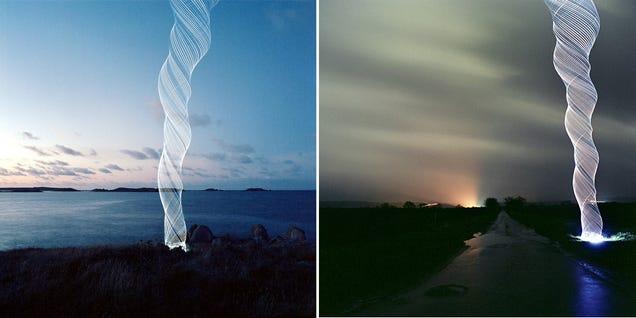 Cómo crear increíbles tornados de luz con solo LEDs y una batería