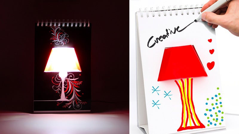 You Can Doodle Any Design On This Notebook Desk Lamp