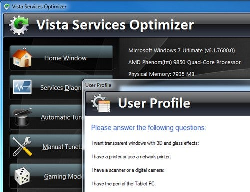 Vista Services Optimizer Updates to Support Windows 7 Tweaking