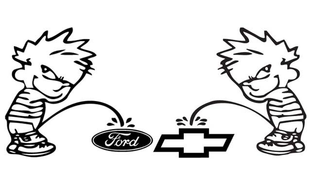 Ford vs. Chevy debate turns into fist vs. knife
