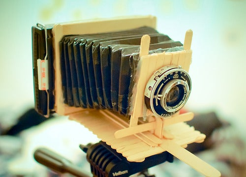 This Photo Was Taken Using a Camera Made From Popsicle Sticks