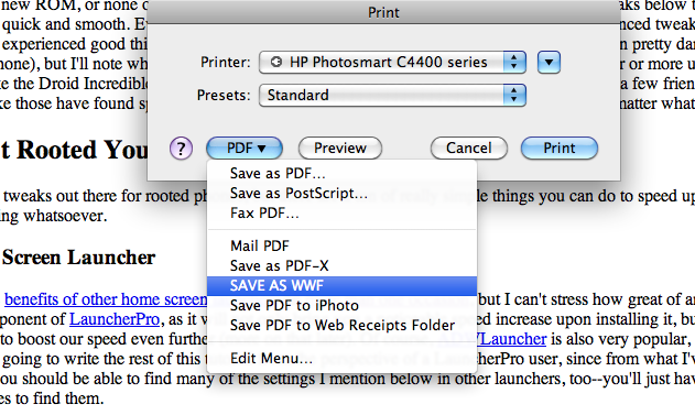 WWF Document Format Doesn't Give You a Choice but to Save Paper