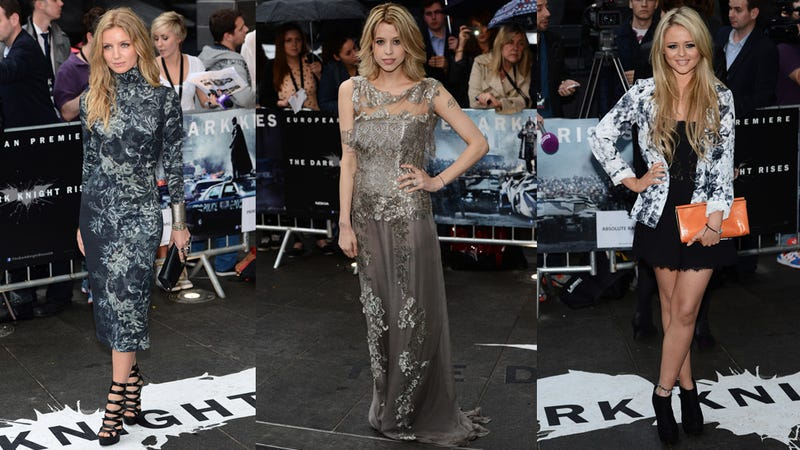 The Cast of The Dark Knight Rises Step It Up for European Premiere