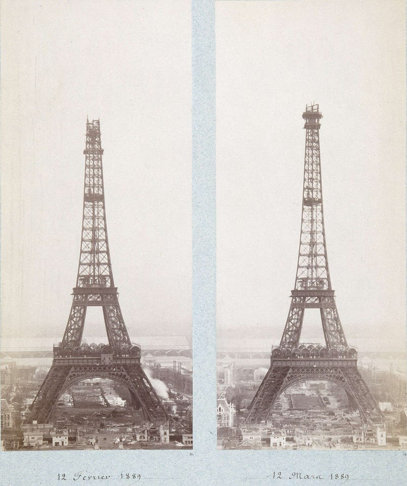 Photos of Famous Landmarks While They Were Still Under Construction