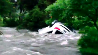 Watch A Texas Flash Flood Flip A Jeep With A Guy Inside