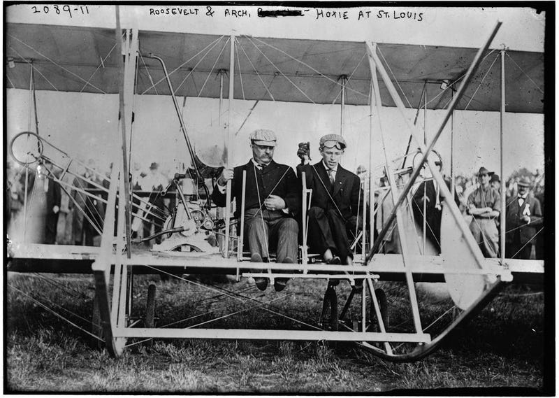 Watch Teddy Roosevelt's First Aeroplane Flight, 105 Years Ago Today