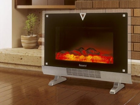 Fireplace Heater Looks, Feels Just Like the Real Thing