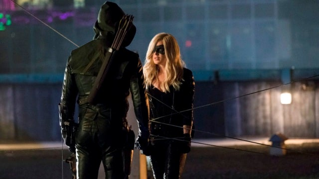 Arrow makes each character do a 180. Twice.