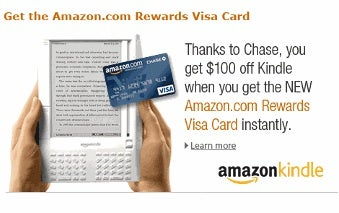 Kindle Gets $100 Discount in Amazon, Chase Promotion