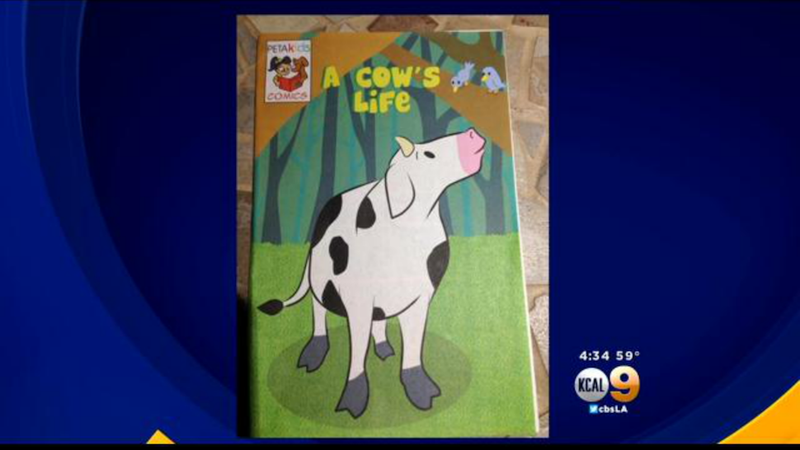 PETA Hands Out Pamphlet at Elementary School Featuring Mutilated Cows