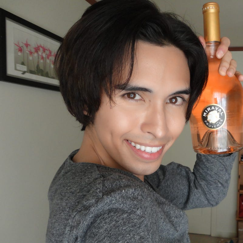 I bought Angie and Brad's rosé