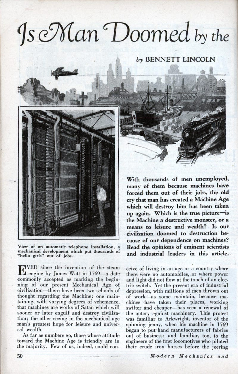 News article from 80 years ago warns of the impending robot age