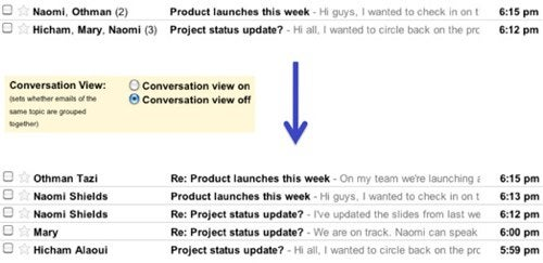 Gmail Lets You Unthread Your Email for a More Traditional Conversation View