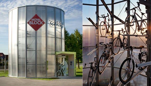 Cinco aparcamientos futuristas (y automáticos) para bicis