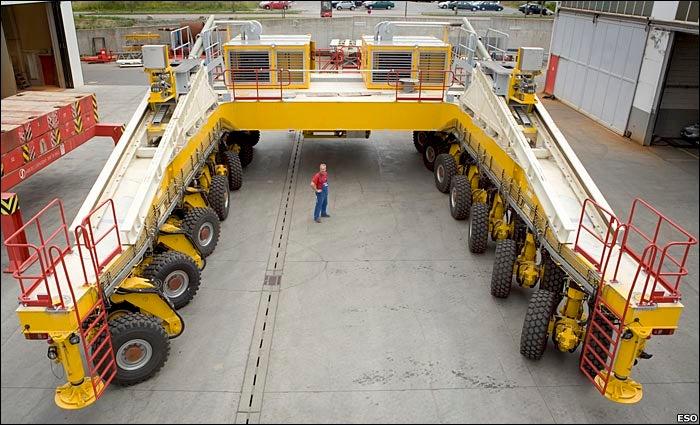 28-Wheel Truck Climbs Mountains, Builds Telescopes