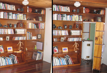 Build your own secret bookshelf door