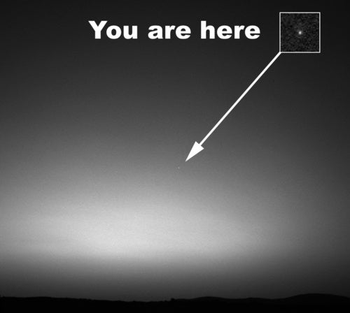 First Ever Image of Earth Taken from Mars