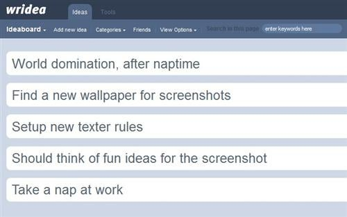 Wridea Is an Online Organizer for Your Ideas
