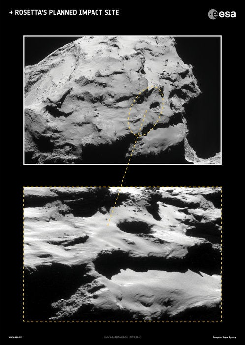 The Amazing Place the Rosetta Spacecraft Is Going To Die