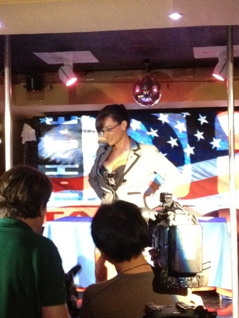 Sarah Palin-Impersonating Porn Star Strips for RNC Delegates at GOP-Themed Club in Tampa