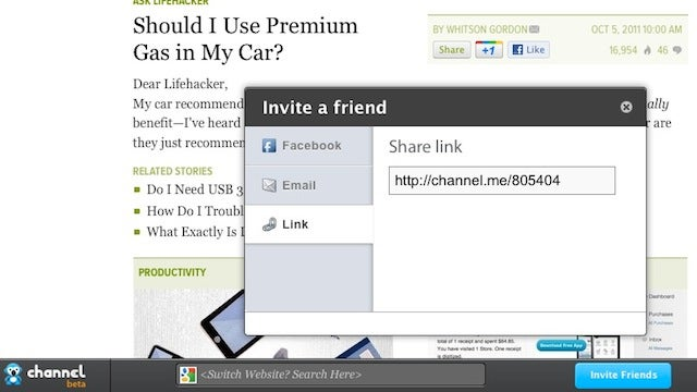 Channel.me Is an Easy Way to Share Web Sites with Friends