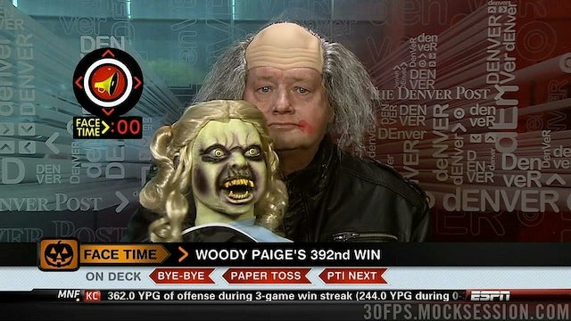 This Evening: Woody Paige Is A Sad Clown