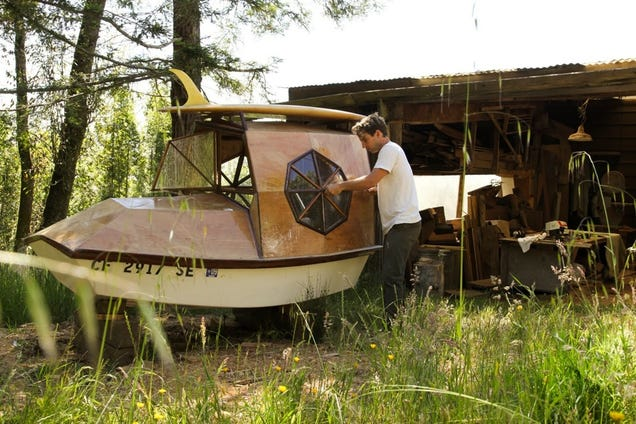 Facebook's New Artist In Residence Builds Wood Domes On Wheels & Water