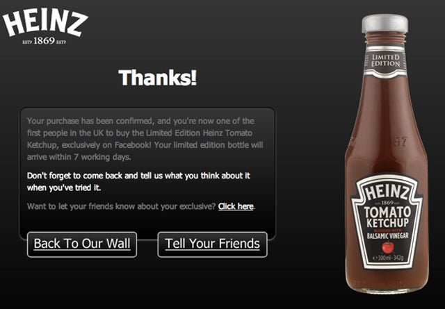 I Just Bought a Bottle of Ketchup on Facebook